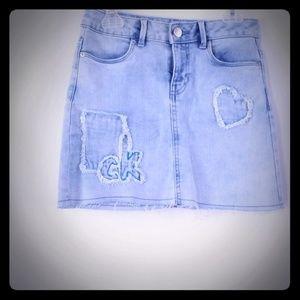 Calvin Klein crewcut denim skirt #youthskirt
